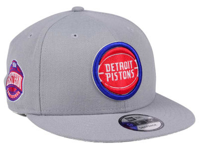 Detroit Pistons New Era NBA Gray Pop 9FIFTY Snapback Cap