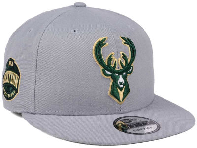 Milwaukee Bucks New Era NBA Gray Pop 9FIFTY Snapback Cap