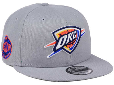 Oklahoma City Thunder New Era NBA Gray Pop 9FIFTY Snapback Cap