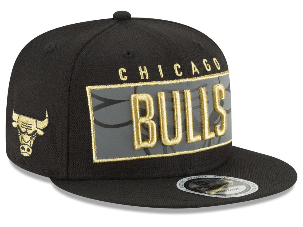 47da14cef0f Chicago Bulls New Era NBA Golden Reflective 9FIFTY Snapback Cap ...