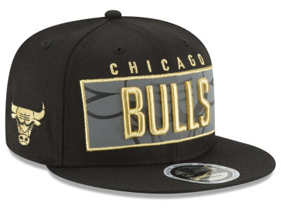Chicago Bulls New Era NBA Golden Reflective 9FIFTY Snapback Cap
