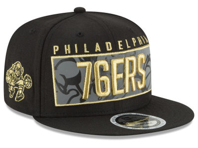 Philadelphia 76ers New Era NBA Golden Reflective 9FIFTY Snapback Cap