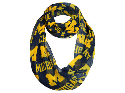 Michigan Wolverines Forever Collectibles All Over Logo Infinity Wrap Scarf