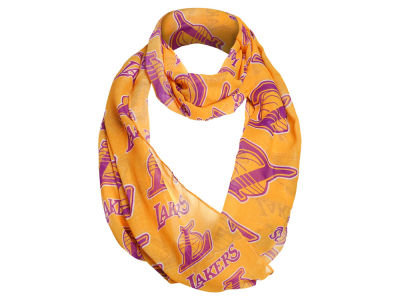 Los Angeles Lakers All Over Logo Infinity Wrap Scarf