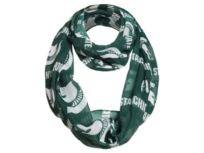 Michigan State Spartans Forever Collectibles All Over Logo Infinity Wrap Scarf