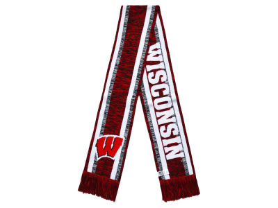 Wisconsin Badgers Big Logo Acrylic Knit Scarf