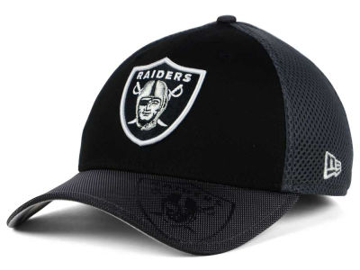 Oakland Raiders New Era NFL Visor Hit 39THIRTY Cap