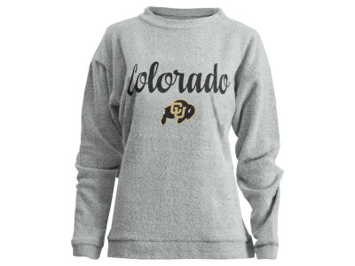 Colorado Buffaloes Pressbox NCAA Women's Comfy Terry Sweatshirt