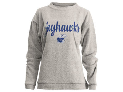 Kansas Jayhawks Pressbox NCAA Women's Comfy Terry Sweatshirt