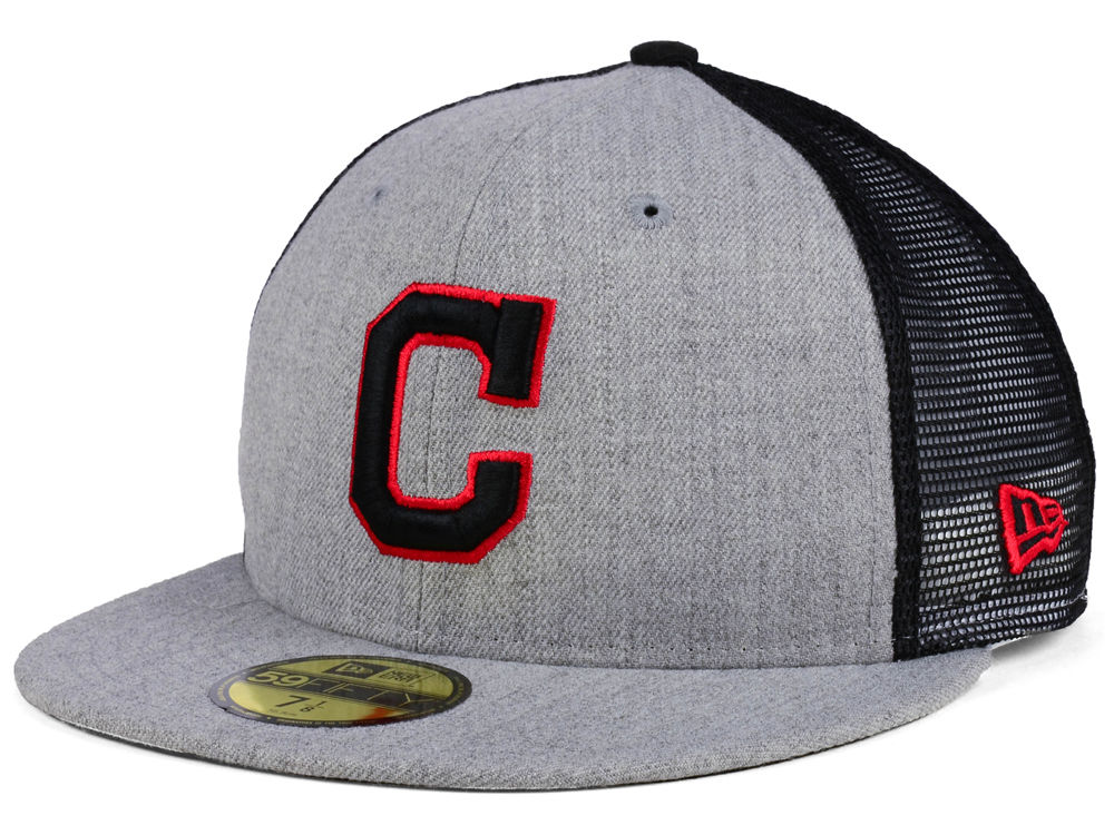 designer fashion ce745 aeaa9 reduced cleveland indians new era mlb new school mesh 59fifty cap 45f07  3a055