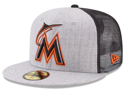 Miami Marlins New Era MLB New School Mesh 59FIFTY Cap