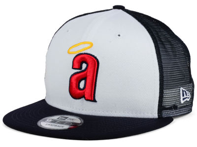 Los Angeles Angels New Era MLB Old School Mesh 9FIFTY Snapback Cap