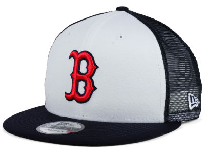 Boston Red Sox New Era MLB Old School Mesh 9FIFTY Snapback Cap