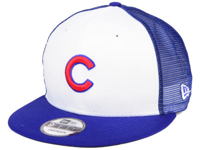 Chicago Cubs New Era MLB Old School Mesh 9FIFTY Snapback Cap
