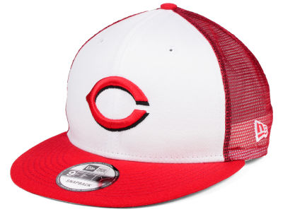 Cincinnati Reds New Era MLB Old School Mesh 9FIFTY Snapback Cap