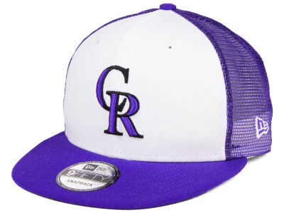 Colorado Rockies New Era MLB Old School Mesh 9FIFTY Snapback Cap
