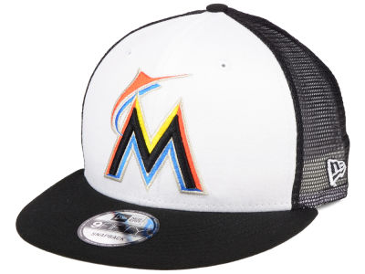 Miami Marlins New Era MLB Old School Mesh 9FIFTY Snapback Cap
