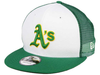 Oakland Athletics New Era MLB Old School Mesh 9FIFTY Snapback Cap