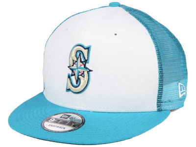 Seattle Mariners New Era MLB Old School Mesh 9FIFTY Snapback Cap