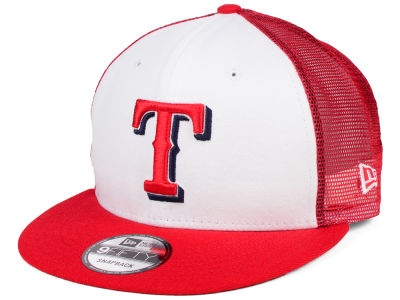 Texas Rangers New Era MLB Old School Mesh 9FIFTY Snapback Cap