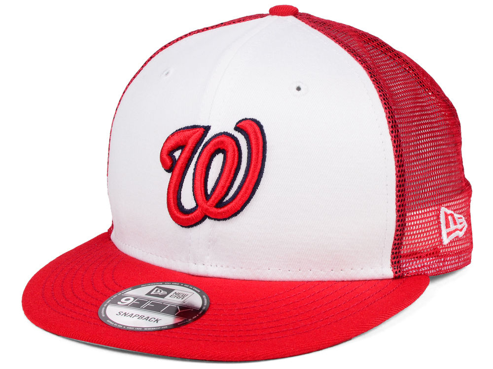 timeless design bf30a 93061 Washington Nationals New Era MLB Old School Mesh 9FIFTY Snapback Cap    lids.com