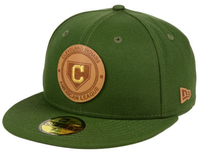 Cleveland Indians New Era MLB Vintage Olive 59FIFTY Cap