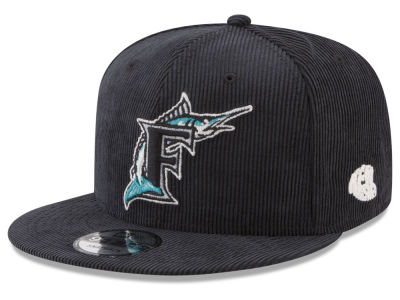 Florida Marlins New Era MLB All Cooperstown Corduroy 9FIFTY Snapback Cap