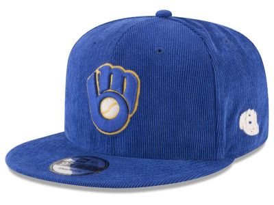 Milwaukee Brewers New Era MLB All Cooperstown Corduroy 9FIFTY Snapback Cap