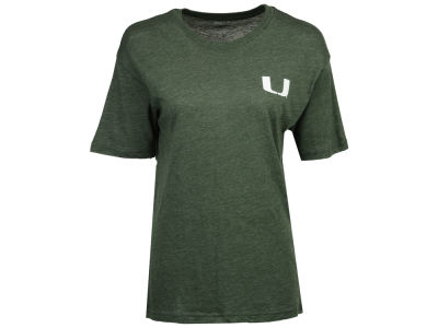 Miami Hurricanes Pressbox NCAA Women's Boho Arrow Melange T-Shirt