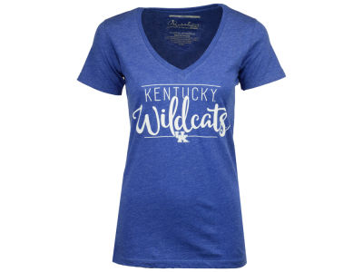 Kentucky Wildcats Pressbox NCAA Women's Jazz Script V-Neck T-Shirt