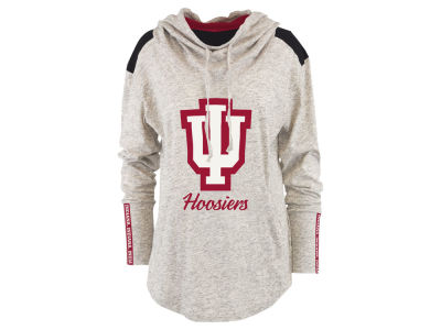 Indiana Hoosiers Pressbox NCAA Women's Gibson Long Sleeve Hooded Sweatshirt
