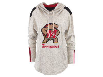 Maryland Terrapins Pressbox NCAA Women's Gibson Long Sleeve Hooded Sweatshirt
