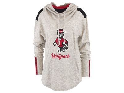 North Carolina State Wolfpack Pressbox NCAA Women's Gibson Long Sleeve Hooded Sweatshirt