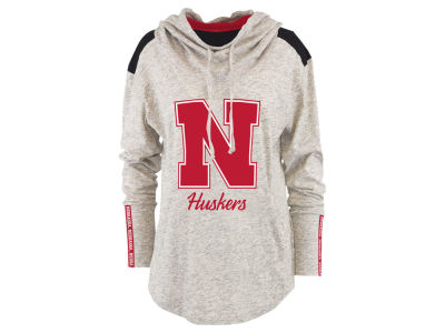 Nebraska Cornhuskers Pressbox NCAA Women's Gibson Long Sleeve Hooded Sweatshirt