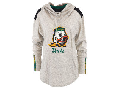 Oregon Ducks Pressbox NCAA Women's Gibson Long Sleeve Hooded Sweatshirt
