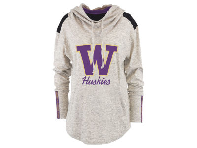 Washington Huskies Pressbox NCAA Women's Gibson Long Sleeve Hooded Sweatshirt