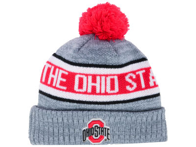 Ohio State Buckeyes J America NCAA The Ribbed Pom Knit
