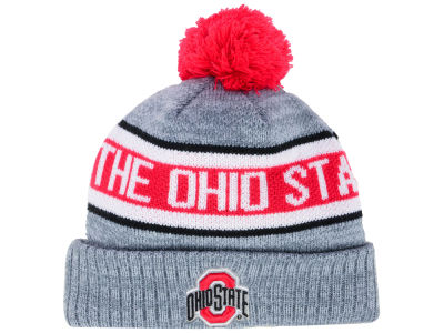 Ohio State Buckeyes J America NCAA Youth Ribbed Pom Knit
