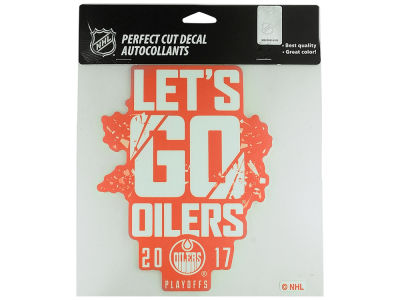 Edmonton Oilers NHL Lets Go Oilers 8x8 Decal