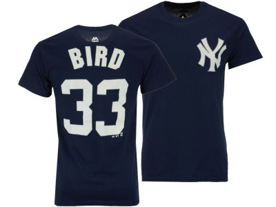 New York Yankees Greg Bird Majestic MLB Men's Official Player T-Shirt