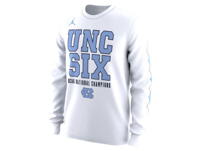 North Carolina Tar Heels Jordan 2017 NCAA Men's Celebration Long Sleeve Multi Champ T-Shirt