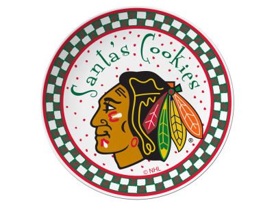 Chicago Blackhawks Evergreen Enterprises Santa Cookie Plate