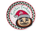 Ohio State Buckeyes Santa Cookie Plate Holiday