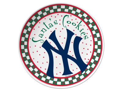 New York Yankees Santa Cookie Plate