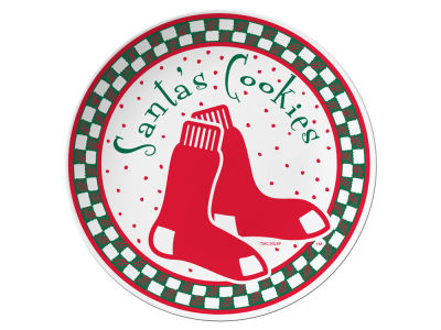 Boston Red Sox Evergreen Enterprises Santa Cookie Plate