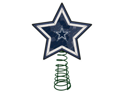 Dallas Cowboys Mosaic Art Glass Tree Topper
