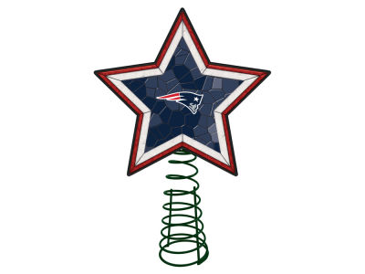 New England Patriots Mosaic Art Glass Tree Topper