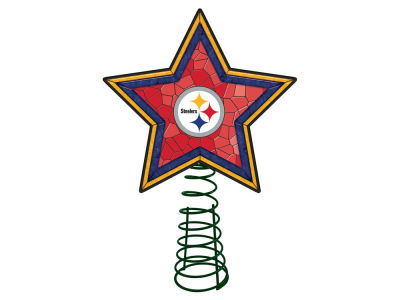 Pittsburgh Steelers Mosaic Art Glass Tree Topper