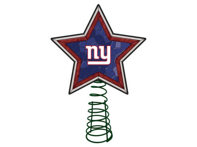 New York Giants Mosaic Art Glass Tree Topper