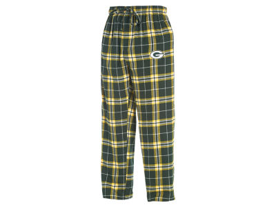 Green Bay Packers Concept Sports NFL Men's Huddle Flannel Sleep Pant